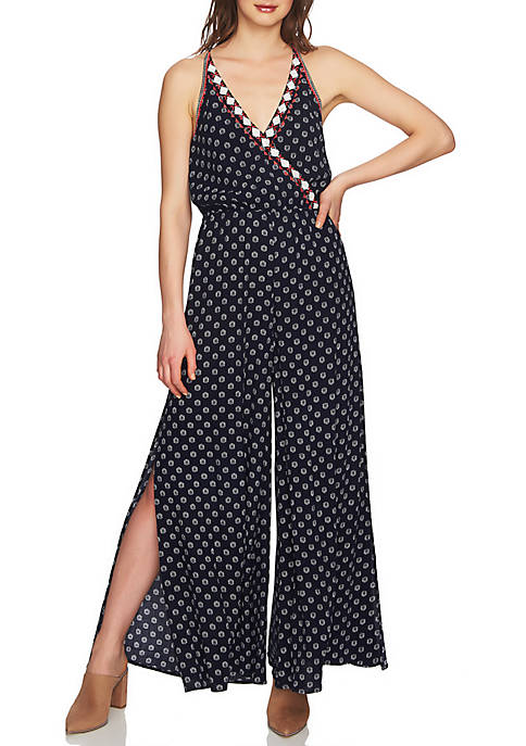 1. State Embroidered Cami Jumpsuit