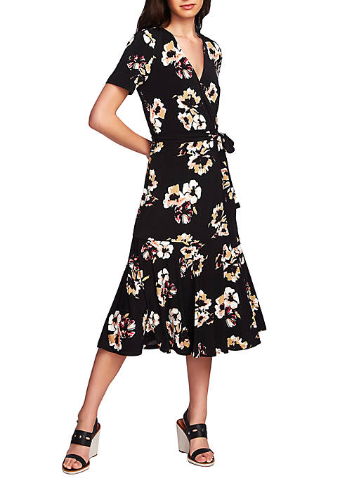 1. State Short Sleeve Wrap Dress