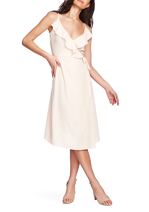 1. State Flounce Wrap Tank Dress