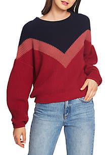 Chevron Crew Neck Sweater