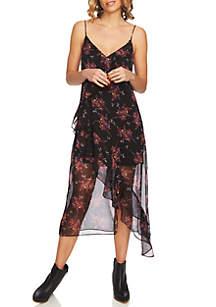 Wildflower Ruffle Slip Dress