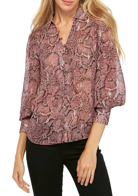 1. State Womens Long Sleeve Button Down Snake