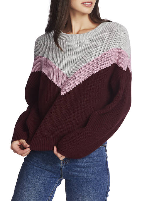 1. State Womens Chevron Crew Sweater