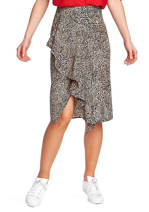 1. State Ruffle Leopard Print Skirt
