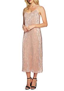 Sequin Midi Slip Dress
