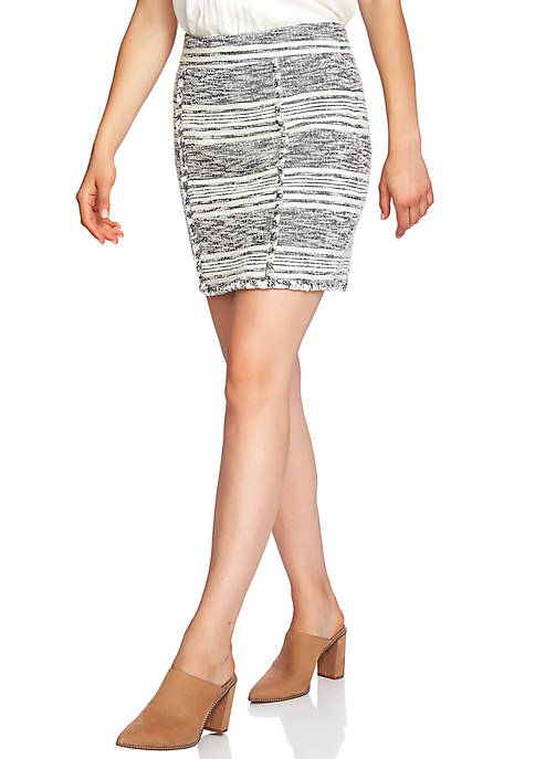 1. State Novelty Tweed Pencil Skirt