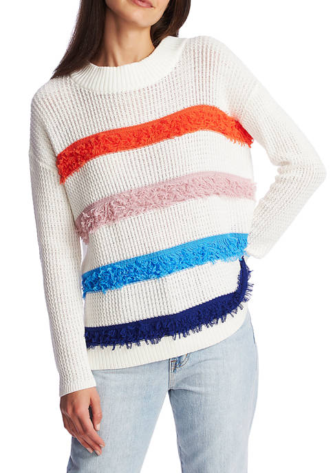 1. State Womens Loop Stitch Multi Color Stripe