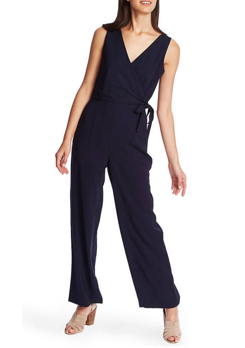 1. State Womens Soft Twill V-Neck Jumpsuit
