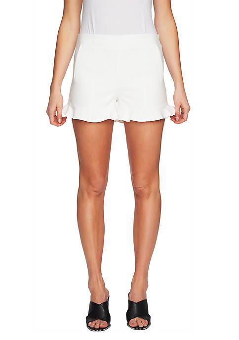 1. State Ruffle Hem Shorts