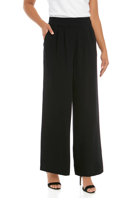 1. State Womens Wide Leg Soft Pleated Pants