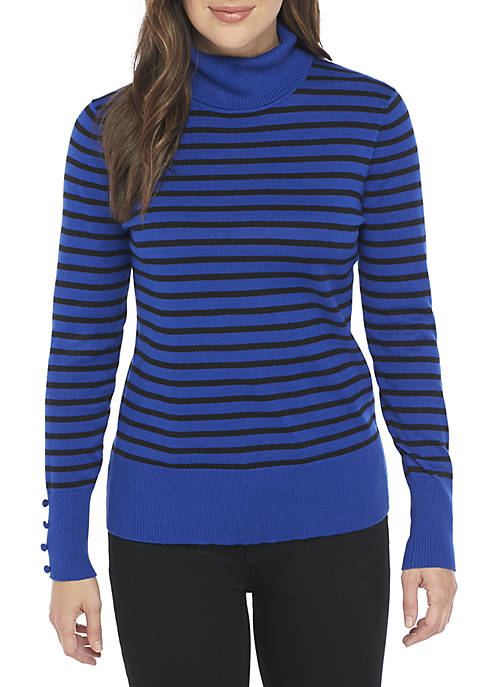 Cupio Essential Stripe Turtleneck
