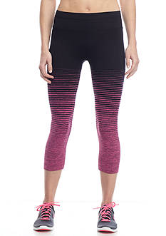 be inspired® Stripe Calf Capri