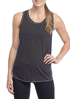 be inspired® Ruched Back Stripe Tank