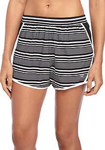 Stripe Print Running Shorts