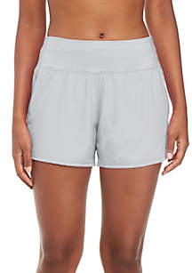 Solid Perforated Shorts