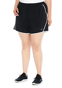 Plus Size Solid Running Shorts