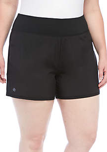 Plus Size Solid Run Shorts