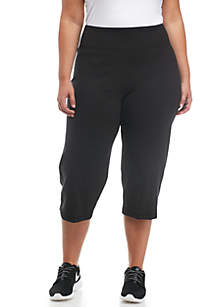 ZELOS Plus Size Basic Capris