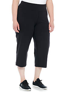 ZELOS Plus Size Basic Capri