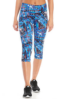 be inspired® High Waist Printed Capri
