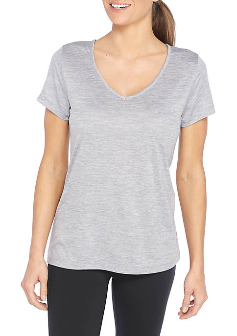 V-Neck Heather Tee Shirt