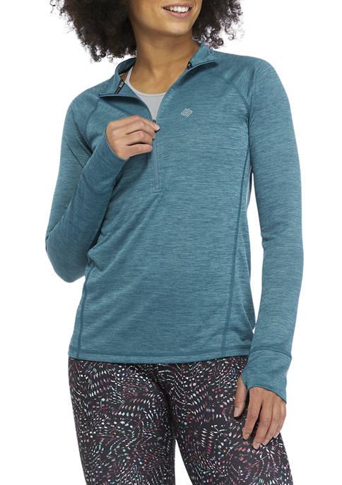 Space Dye Quarter Zip Sweatshirt