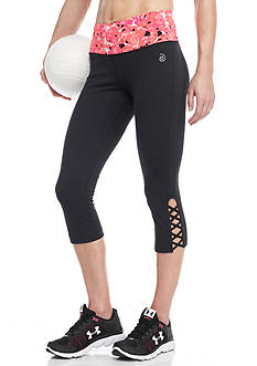 be inspired® Lattice Ankle Printed Capris