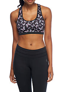 Core Printed Racerback Sports Bra