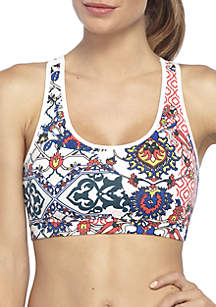 Core Print Racerback Sports Bra