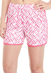 ZELOS Printed Tulip Hem Shorts