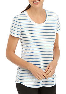 Striped Scoop Tee