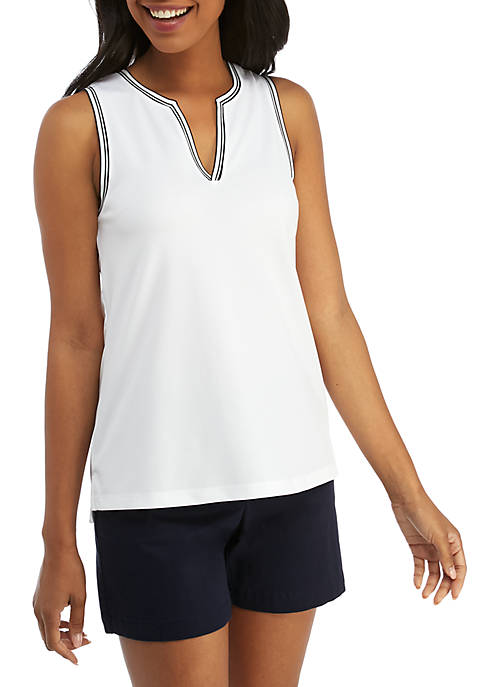 Crown & Ivy™ Golf Sleeveless Golf Tank