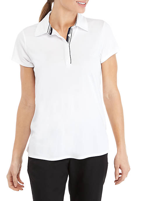 Crown & Ivy™ Golf Short Sleeve Golfing Shirt