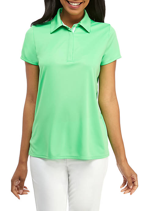 Short Sleeve Golfing Shirt with Hidden Placket