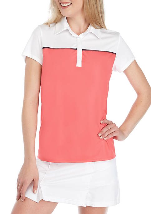 Crown & Ivy™ Golf Short Sleeve Color Block