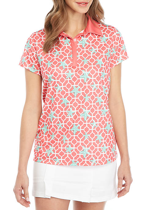Crown & Ivy™ Golf Short Sleeve Contrast Polo