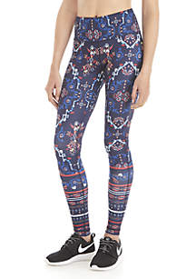 1627340e617 ... ZELOS Plus Size Print Performance Leggings