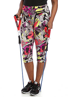 be inspired® Plus Size Ruched Performance Capris
