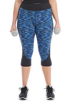 be inspired® Plus Size Printed Capris