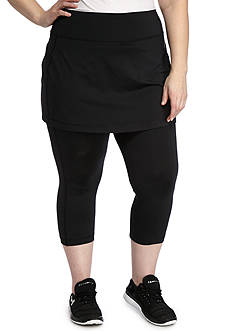 be inspired® Plus Size Skirt Topped Capris