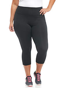 ZELOS Plus Size Active Capri