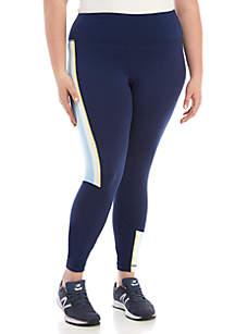 Plus Size Stripe Print Leggings