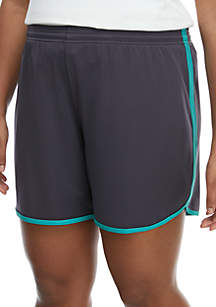 ZELOS Plus Size New Tulip Hem Shorts