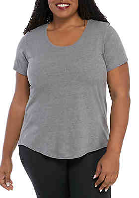 2cfaccb6652 ZELOS Plus Size Performance Scoop Neck Top ...