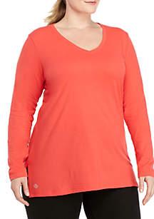 Plus Size Core V-Neck Tee Shirt