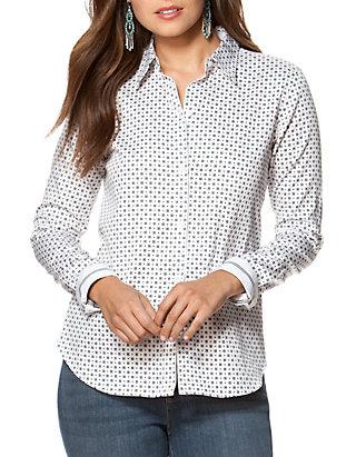 3555ec0422c Chaps Non-Iron Floral Sateen Shirt
