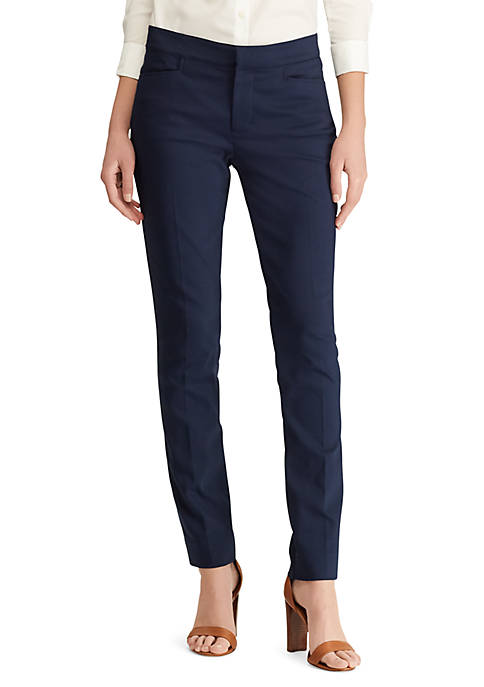 Chaps Womens Double Knit Skinny Pants