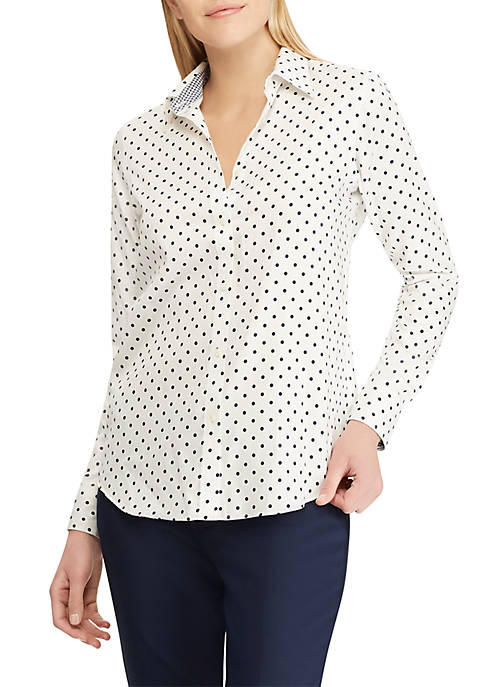 Chaps No Iron Cotton Sateen Button Down Shirt