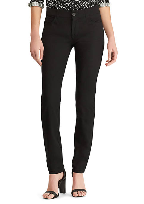 Chaps Womens Four Way Stretch Straight Fit Pants