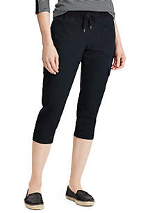 Chaps Shelby Roll Black Cargo Capris